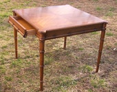 Fabulous Faux Bamboo Game Table perfect for a breakfast nook, entry hall, center table, game room