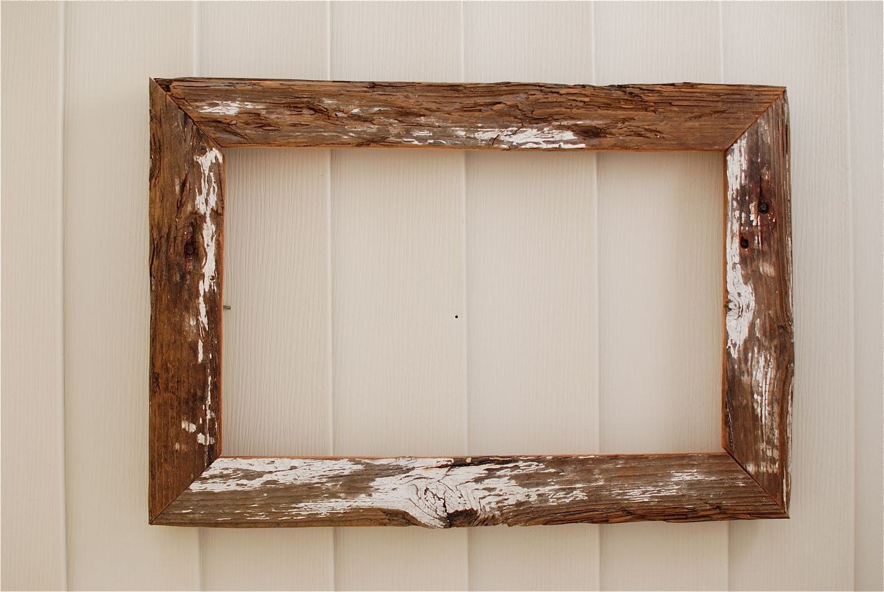 Distressed White Driftwood 12x19 Rustic Wood Frame By