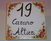 Ceramic Custom House Number