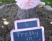 Set of Two Antique Distressed Vintage Shabby Chic Large 7x10  Chalkboards  Message  Photo Prop Wedding Baby Shower Birthday Party Signs