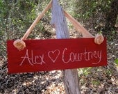 Hanging Chalkboard Engagement Wedding Signs Photo Props  Elegant Indoor Outdoor Cottage Woodland Chic Engagement Holidays