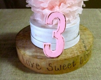 Set of 12 Table Numbers Name Cards Rustic Vintage Painted Distressed Shabby Chic Wedding