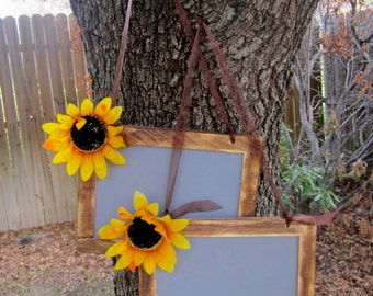 "Two 5""x7"" Chalkboard Photo Prop Shabby Chic Elegant Vintage Rustic Menu Message Boards Showers Weddings Parties Bride and Groom"