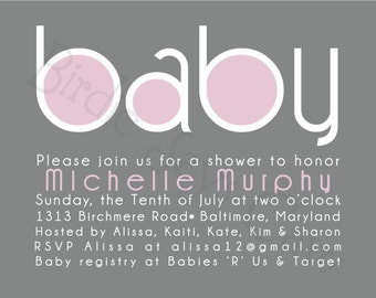 Custom Printable Baby Shower Invitation