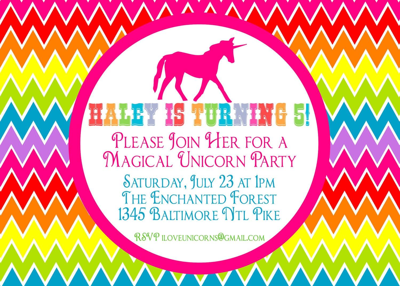 Unicorn Birthday Invitation Templates with good invitation ideas