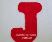 Crochet Letters Patterns J Appliques and 3D Decorative Pillows in 5 Sizes