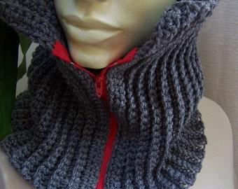 Crochet Scarf Pattern, Unisex Scarf Crochet Pattern, Crochet Cowl Pattern, Ribbed Cowl  - Three Styles PDF205