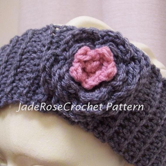 Crochet Headband Pattern, Headwrap Crochet Pattern, Flower ...