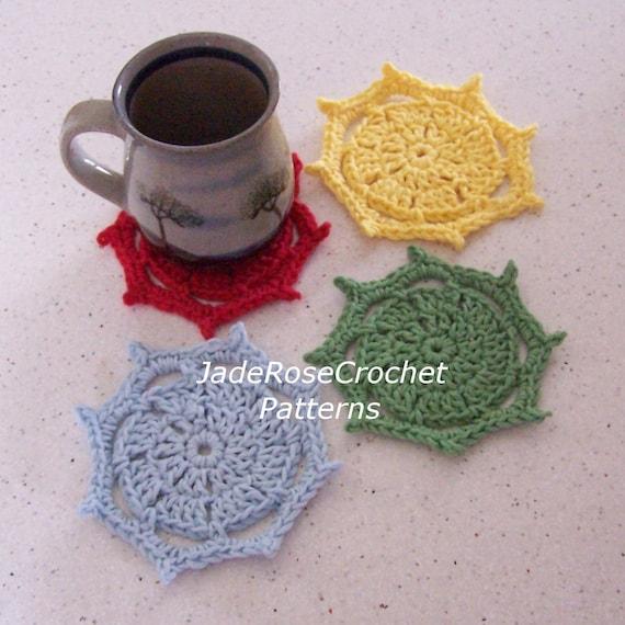 Free Crochet Mug Coaster Pattern : Crochet Coasters Pattern Mug Rug Crochet Pattern Beaded