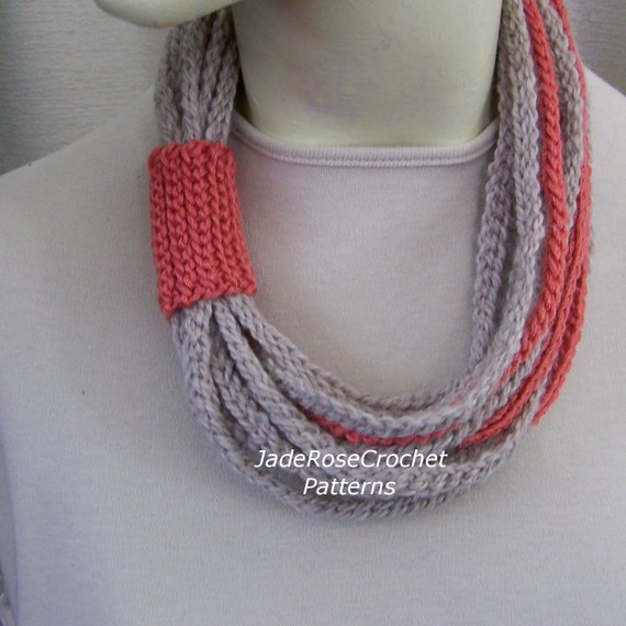 Crochet Rope Scarf Pattern, Rope Scarf Pattern, Crochet Rope Pattern, Crochet Rope Necklace Pattern, Crochet Rope Cowl Pattern, PDF 210
