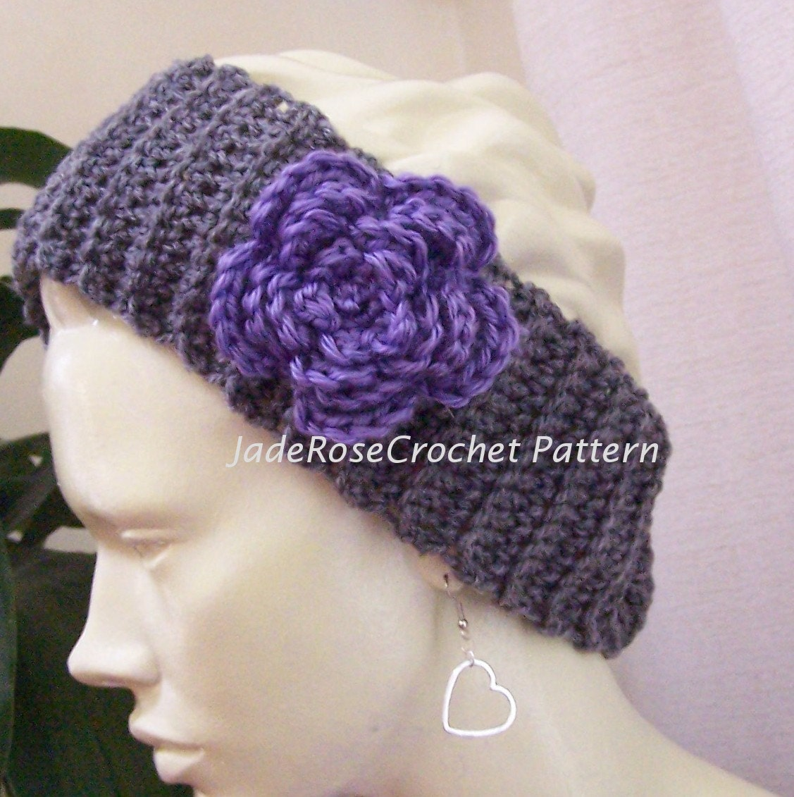 Crochet flower ear warmer pattern manet for crochet ear warmer pattern with optional flower by bankloansurffo Choice Image