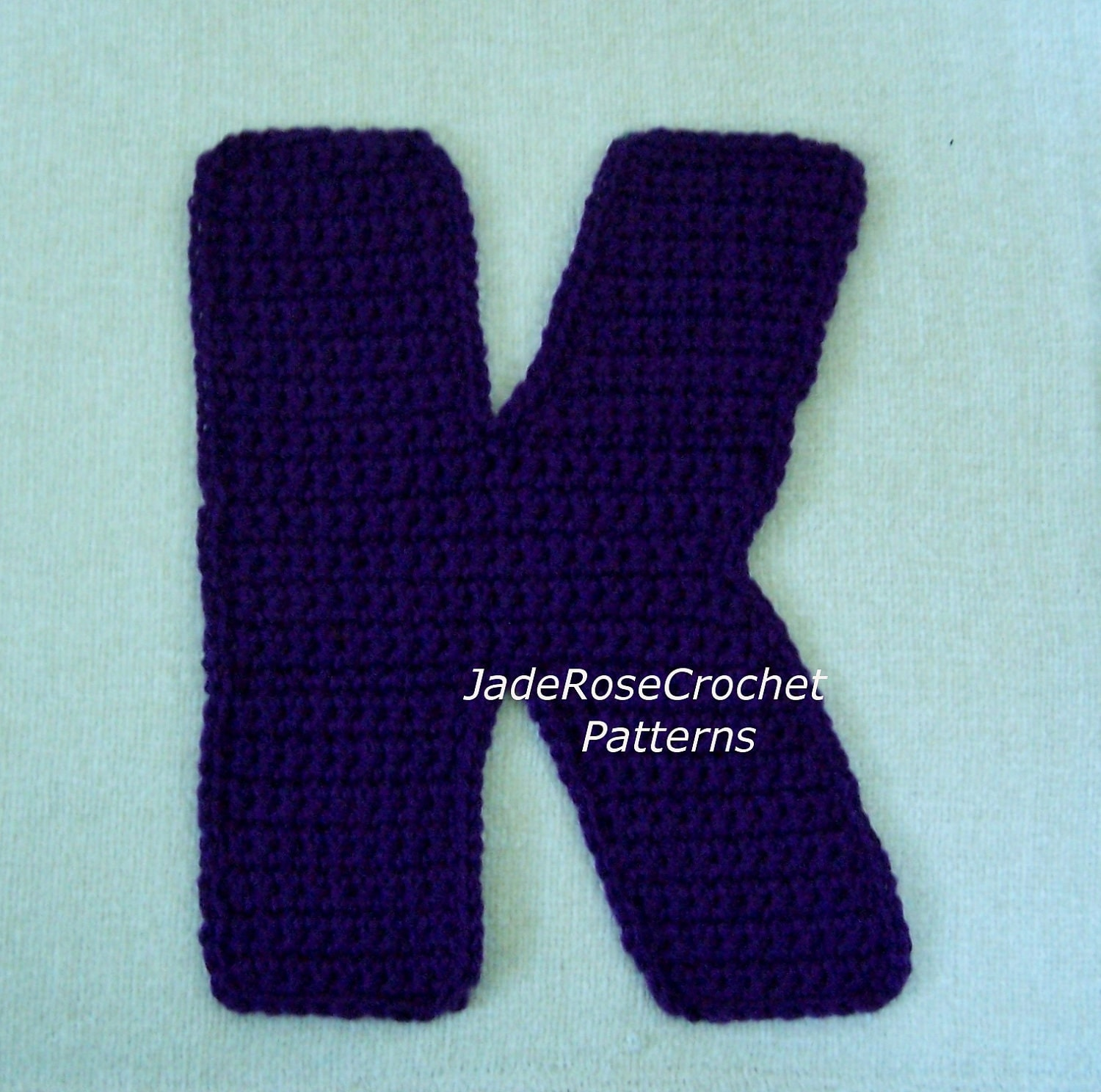 Free Crochet Letter Pillow Pattern : Crochet Alphabet Letters Pillow Applique by JadeRoseCrochet