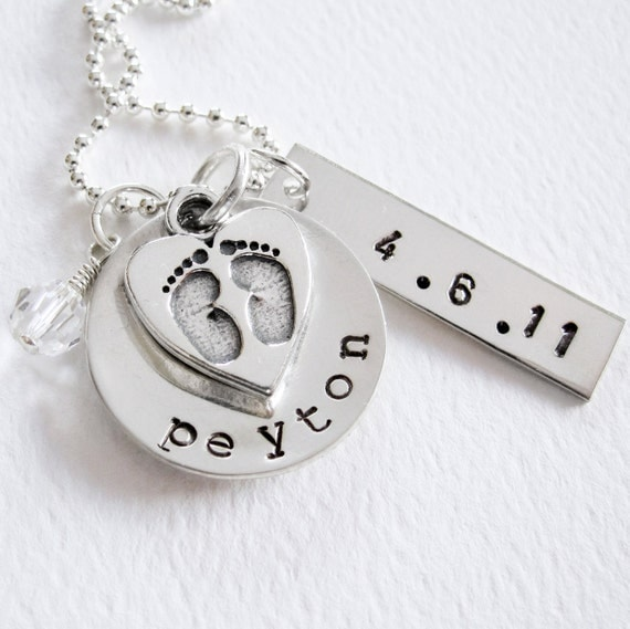 New Baby New Mom Necklace Personalized By Patriciaannjewelry