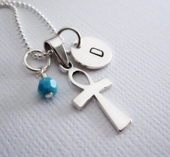 ankh necklace sterling silver by patriciaannjewelry