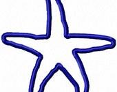 Applique Starfish No.1 (Embroidery Design for Machine Embroidery)