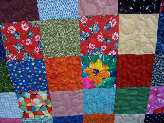 Double/Queen Patchwork Quilt Country Cousins Ready to Ship