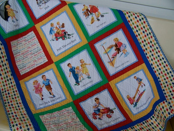 Dick and Jane Baby Toddler play Quilt