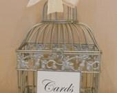 Gold Wedding Birdcage Card Holder / Shower Card Holder DIY Kit