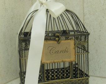 Wedding Birdcage Card Holder Vintage Style Wedding Cardholder  / Card box