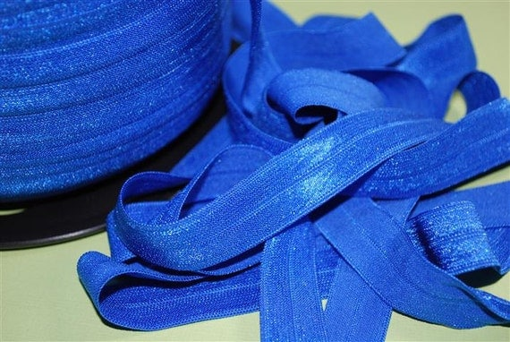 5/8 inch Fold Over Elastic - 5 Yards  Royal Blue