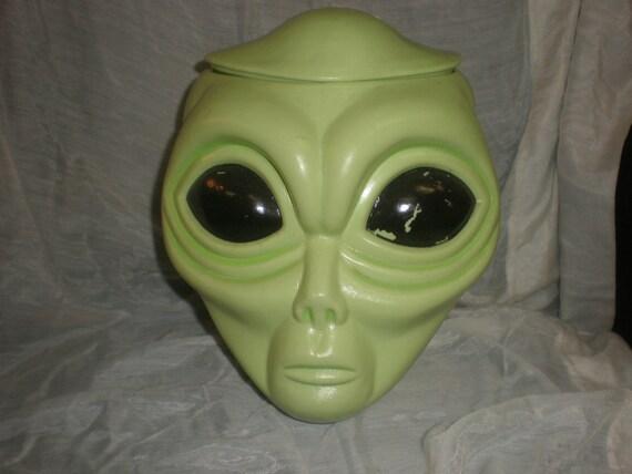 Alien Head Candy Cookie Jar Unique By Vjliquidators On Etsy
