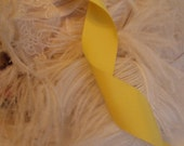 Wide Vintage Yellow Grosgain Ribbon,  Elegant Victorian,Wedding Formals, Victorial Hair Bows-one yard