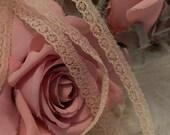 5 Yards - Petite Antique Doll Lace Trim , Petite Delicate Edging, Dolls, Baby,  Ribbonwork, scrapbooking, Crazy Quilts,