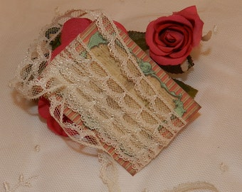 """9 Yards - 3/16"""" w. Cream,  Lace, Trim, Edging - Dolls, Baby, Mixed Media, Altered Couture,, Crazy Quilts"""
