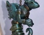 Steampunk Dragon - Aqua Greenish
