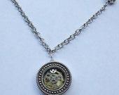 1 inch Gear Pendant in Silver