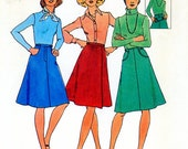 Vintage Sewing Pattern - 1975 Misses Three Skirts, Simplicity 7111 Size 18 Waist 32