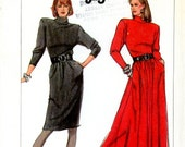 VIntage Sewing Pattern - 1987 Misses Dress in Two Lengths, Simplicity 8283 Sizes 10-16