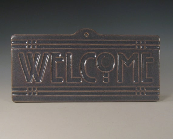 Welcome Tile - Arts & Crafts Mission Craftsman Style