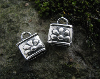 Artisan made Sterling Silver End Caps for leather or beading exclusive READY TO SHIP