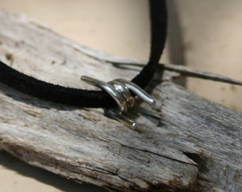 Handmade Sterling Silver Barbed Wire Pendant
