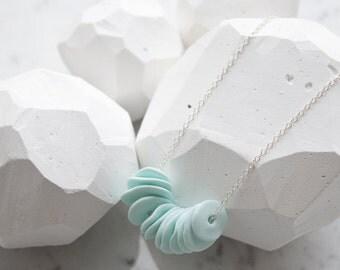 Hand Sculpted Multi Disc Necklace - Sublime Sea Foam Green