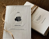 Black & White - Aged To Perfection - Letterpress Birthday Card