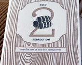Aged to Perfection - Letterpress Birthday Card