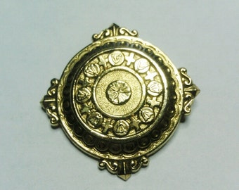 Vintage Gold Tone Victorian Style Pin / Brooch