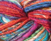 Noro Iro Silk Wool Yarn Color 108 Red, Purple, Blue, Orange, Green 100g Bulky Rainbow Mix