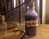 Deadly Nightshade - The Nightmare Before Christmas Vial Necklace - Murky Purple Poison