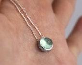 Petite prehnite sterling necklace