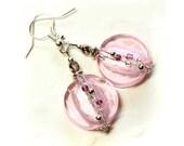 Pink Lady venetian glass Earrings Charming and Delightful Wedding Bridesmaid