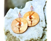 Ballerina Earrings ballet dancer girly cute peach and pink pastel colors Round (32)