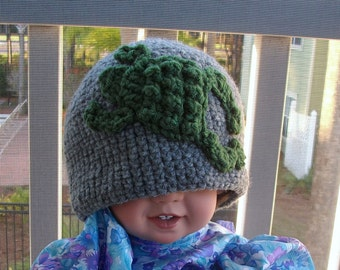 Gray Frog Boys Toddler Hat