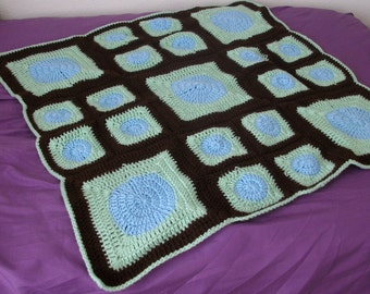 Brown Green Blue Blanket