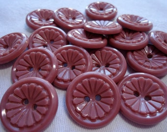 25 Vintage plastic buttons, all the same pattern, 2 sizes.  SLVT11.12-29(1)