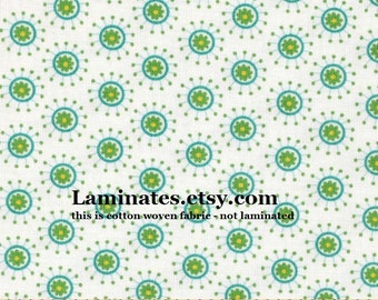 SALE Cotton fabric by the yard - Flower jacks blue from Hoo's in the Forest