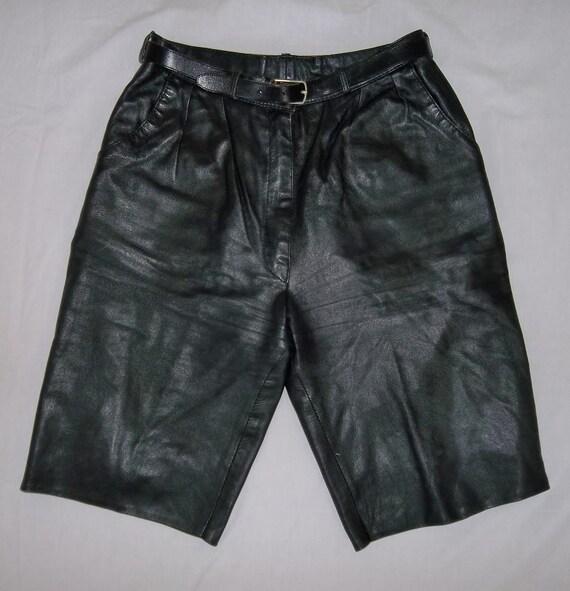 1970er leder shorts schwarze leder bermudas gr 38. Black Bedroom Furniture Sets. Home Design Ideas