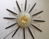 Vintage Atomic Starburst Wall Clock by Lux
